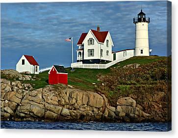 Cape Neddick Lighthouse Canvas Print - The Nubble by Nikolyn McDonald