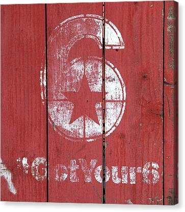 The Number 6 Canvas Print by Art Block Collections