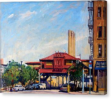 The Number One Train 215th Street Station Nyc Canvas Print by Thor Wickstrom