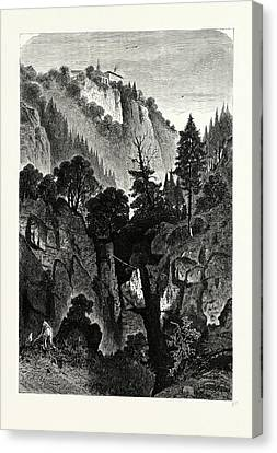The Nunnery Of Ottilienberg, Alsace. Mont Sainte-odil Canvas Print by French School