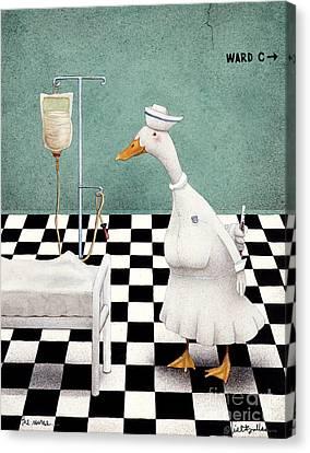 The Nurse... Canvas Print
