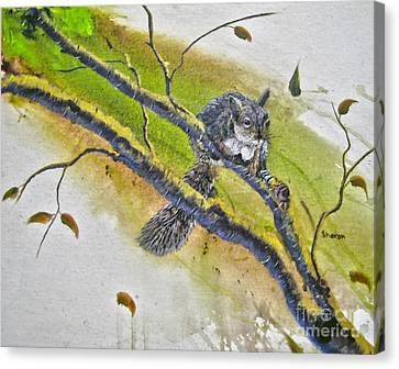 Bushy Tail Canvas Print - The Nut Crackers Suite by Sharon Burger