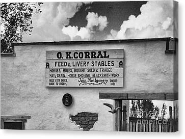 The O. K. Corral Canvas Print by Anne Rodkin