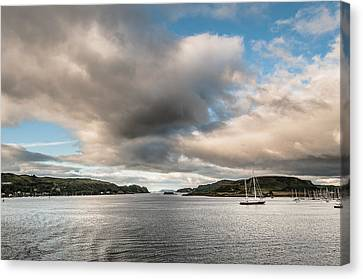 Canvas Print featuring the photograph The Oban's Marina by Sergey Simanovsky