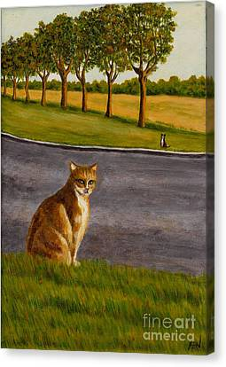 The Obscure Communication Between Cats Canvas Print