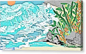 The Ocean Blues Canvas Print by Sherry  Hatcher