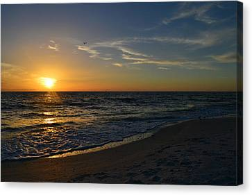 Southwest Florida Sunset Canvas Print - The Ocean by Melanie Moraga