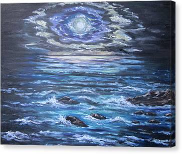 The Ocean Sings The Sky Listens 2 Canvas Print by Cheryl Pettigrew