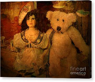 Canvas Print featuring the photograph The Odd Couple ... by Chris Armytage