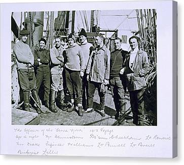 The Officers Of The Terra Nova Expedition Canvas Print