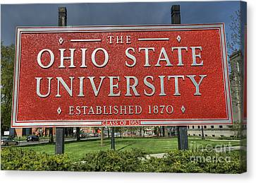 The Ohio State University Canvas Print by David Bearden
