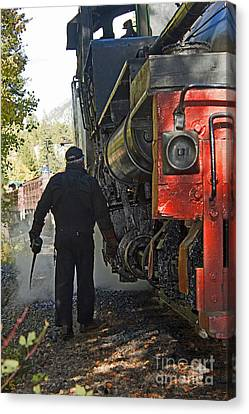The Oil Can Canvas Print by Steven Parker