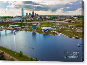 The Oklahoma River Canvas Print by Cooper Ross