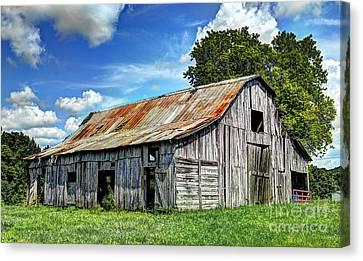 The Old Adkisson Barn Canvas Print by Paul Mashburn