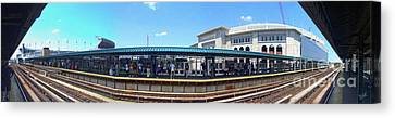 The Old And New Yankee Stadiums Panorama Canvas Print