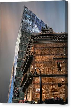 Canvas Print featuring the photograph The Old And The New by Jim Hill