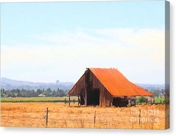 The Old Barn 5d24404 Canvas Print by Wingsdomain Art and Photography