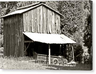 The Old Barn Canvas Print by Heather Allen