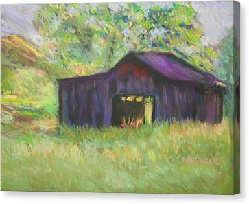 The Old Barn I Canvas Print by Shirley Moravec
