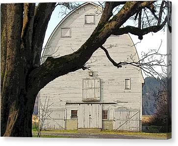 Canvas Print featuring the photograph The Old Barn by I'ina Van Lawick