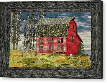Canvas Print featuring the painting The Old Barn by Jo Baner