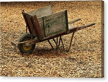 The Old Barn Wagon Canvas Print