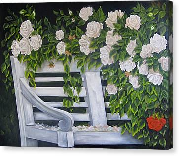 The Old Bench Canvas Print