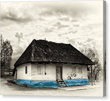 The  Old Blue House -1342  Canvas Print by Dorin Stef