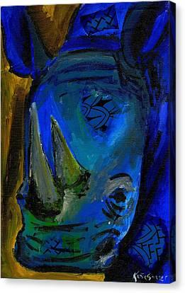 The Old Blue Rhino Canvas Print