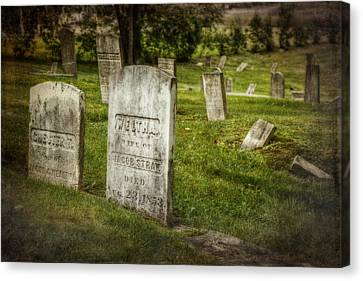 Tomb Canvas Print - The Old Burial Ground by Joan Carroll