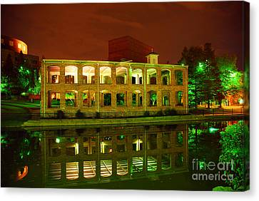 The Old Carriage House Building In Downtown Greenville Sc Canvas Print