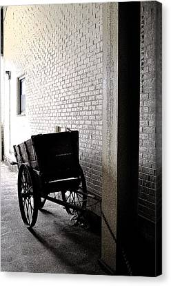 Canvas Print featuring the photograph The Old Cart From The Series View Of An Old Railroad by Verana Stark