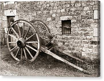 The Old Cart Canvas Print by Olivier Le Queinec