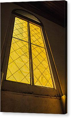Canvas Print featuring the photograph The Old Church Window  by Naomi Burgess