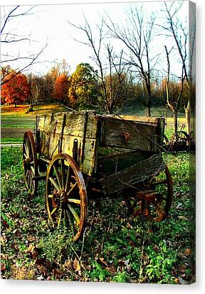 The Old Conestoga Canvas Print by Julie Dant