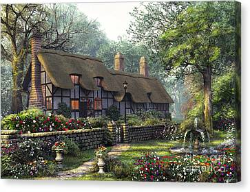 Pathway Canvas Print - The Old Cottage by Dominic Davison