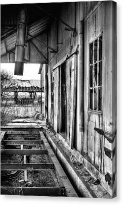 The Old Cotton Gin Bw Canvas Print by JC Findley