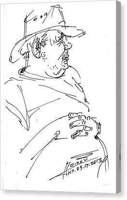 The Old Cowboy Canvas Print by Ylli Haruni