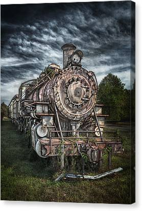 The Old Depot Train Canvas Print by Brenda Bryant