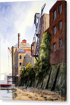 The Old Docks - Rotherhithe London Canvas Print by Bill Holkham