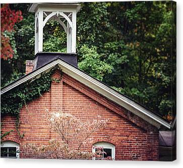 The Old Erie Schoolhouse Canvas Print by Lisa Russo