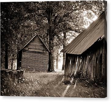 The Old Farm At Sunrise Canvas Print