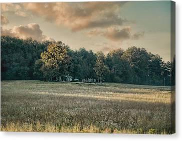 The Old Farm At Sunrise - Country Scene Canvas Print by Jai Johnson