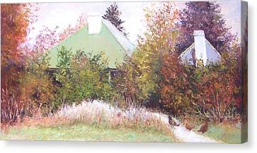The Old Farm House Canvas Print by Jan Matson