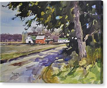 Amish Farms Canvas Print - The Old Farm Lane by Spencer Meagher