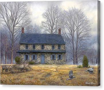 Amish Canvas Print - The Old Farmhouse by Chuck Pinson