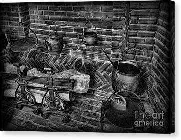 The Old Fireplace Canvas Print by Lee Dos Santos
