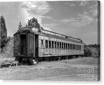 Canvas Print featuring the photograph The Old Forgotten Train by Kathy Baccari
