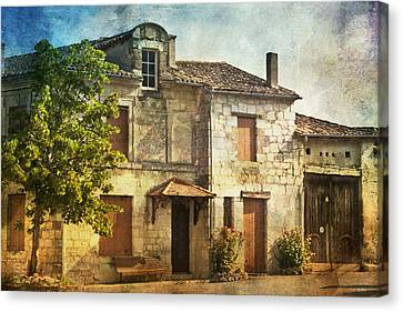 The Old French House Canvas Print by Georgia Fowler