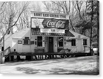 The Old General Store Bw Canvas Print